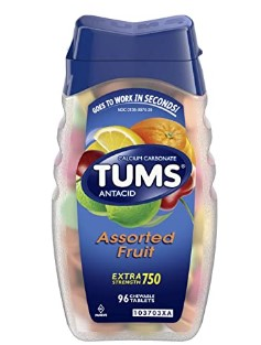 AMAZON: TUMS Antacid Chewable Tablets for Heartburn Relief, Extra Strength, Assorted Fruit, 96 Tablets $2.90