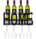 BCP: Wine Rack Wall Mount Decorative Art Design Shelf - Black $25.99 (REG. $43.99)