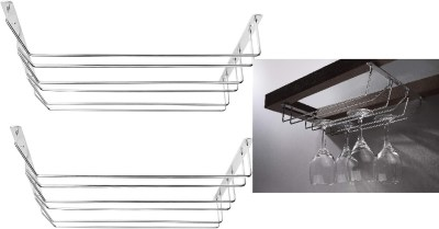 AMAZON: Wine Glass Rack Under Cabinet, 15 Inch Metal Stemware Rack Holds up to 14-21 Wine Glass $15 ($30)