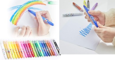 AMAZON: Kids Crayons Tempera Paint Sticks 24 Colors Set, Washable Quick Drying Non Toxic $11.4 ($19)