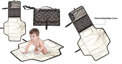 AMAZON: Portable Diaper Changing Pad Built-in Head Cushion Waterproof Baby Travel $7.99 ($20)