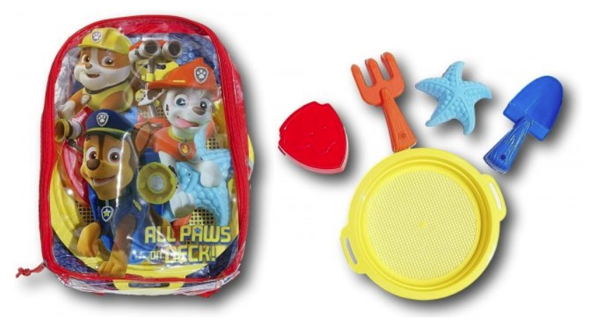Paw Patrol Beach Toys Set Backpack