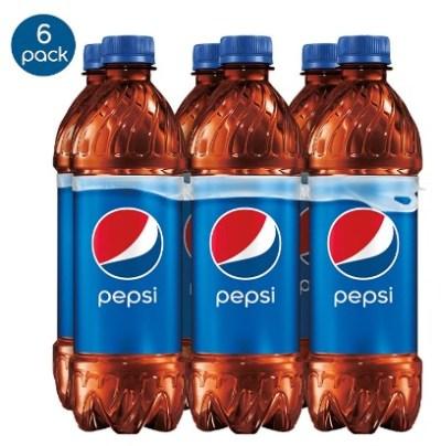 AMAZON: Pepsi, Bottles 16.9 Fl Oz (Pack of 6)