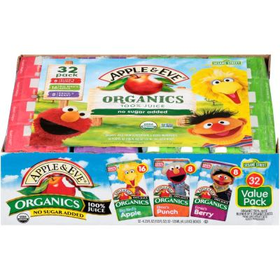 AMAZON: Apple & Eve Sesame Street Organics Juice Box (32 Count) Variety Pack