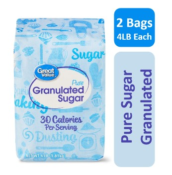 WALMART: (2 Pack) Great Value Pure Cane Sugar, 4 lb $4.58 [$0.57 / lb]
