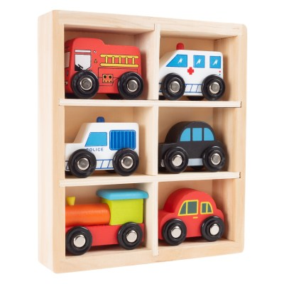 WALMART: Wooden Car PlaySet-6-Piece Mini Toy Vehicle Set by Hey! Play! ONLY $9.99 ($17.71)