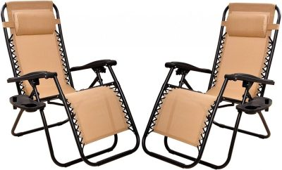 AMAZON: 2 Pack BalanceFrom Adjustable Zero Gravity Lounge Chair Recliners ONLY $79.99 Shipped