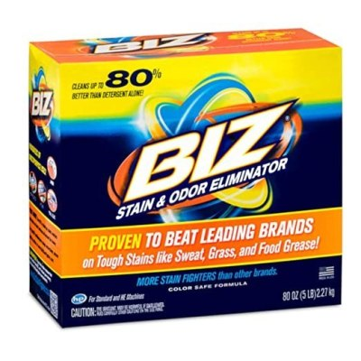 AMAZON: Biz Laundry Detergent Powder Booster, Stain & Odor Removal 80 Ounces For $5.71