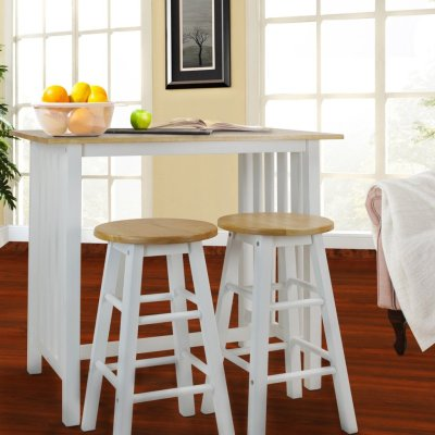 Walmart: 3-Piece Breakfast Set Made With Solid Wood-White For $137.69 (Was $224)