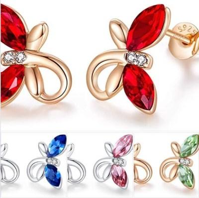 AMAZON: Birthstone Jewelry for Women Girls Hypoallergenic Butterfly Stud Earrings, 60% OFF WITH CODE 67UZC872
