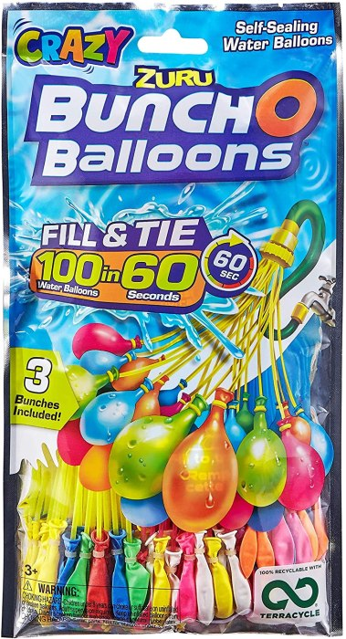 AMAZON: Bunch O Balloons 100 Rapid-Fill Crazy Color Water Balloons (3 Pack), JUST $7.99 (REG $9.99)