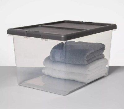 Target: Buy 4 Large Clear Latching Storage Bin For $27.00 + Store Pickup