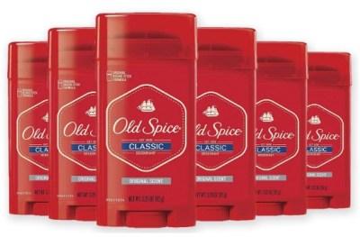 AMAZON: Pack of 6, 3.25 oz Old Spice Classic Deodorant Stick, Original – PRICE DROP!