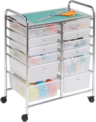 AMAZON: Honey-Can-Do Rolling Storage Cart And Organizer With 12 Plastic Drawers For $58.75