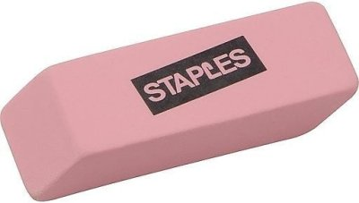 Staples: Staples® Pink Wedge Erasers, 3/Pack At Staples For $0.75 (Was $2.49)