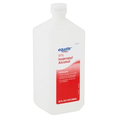 WALMART: Equate 91% Isopropyl Alcohol Antiseptic, 32 fl oz