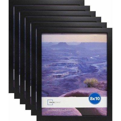 WALMART: 8″ X 10″ Black Linear Frame, Set Of 6 For $18.99 + Store Pickup!