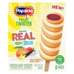TARGET: Popsicle Fruit Twister Raspberry Peach & Vanilla (6ct/16.2oz) For $3.00 (Reg. $4.99)
