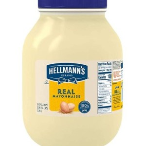 AMAZON: Hellmann's Real Mayonnaise Jar Made with 100% Cage Free Eggs, Gluten Free, 1 gallon $6.76 VIA SUB$SAVE!