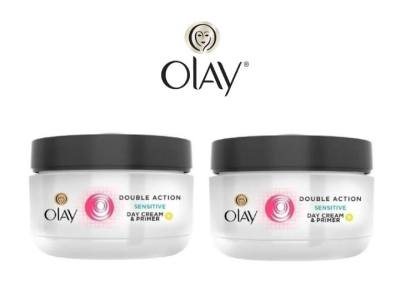 UNTIL GONE: Olay Double Action Sensitive Day Cream & Primer (2-Pack) $13.99 (Reg $35.00)