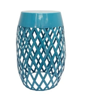 "MICHAELS: 18"" Blue Lattice Outdoor Stool by Ashland JUST $19.99 (Reg $50)"
