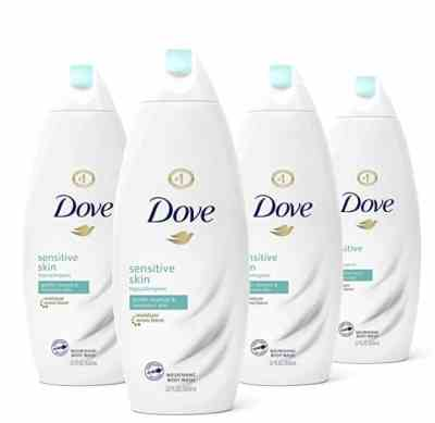Amazon: Pack of 4 Dove Sensitive Skin Body Wash for $16.76 (Reg. Price $23.96)