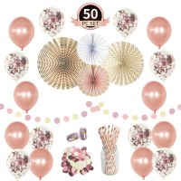 Amazon : Rose Gold Birthday Party Decorations Supplies Set-(50 pc) Just $6.48 W/Code (Reg : $9.99)