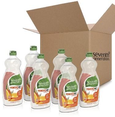 AMAZON: 25 oz, 6pk Seventh Generation Dish Liquid Soap, Clementine Zest & Lemongrass Scent, $13.6 ($26.7)