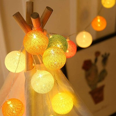 AMAZON: Multicolored Hang String Lights with 20 LED Battery Operated – 50% OFF!