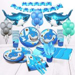 AMAZON: Shark Party Supplies Kit, JUST $21.68 (REG $32.99)