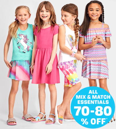 THE CHILDREN'S PLACE: Shorts, Skirts & Tees starting, 70-80% off at $1.99