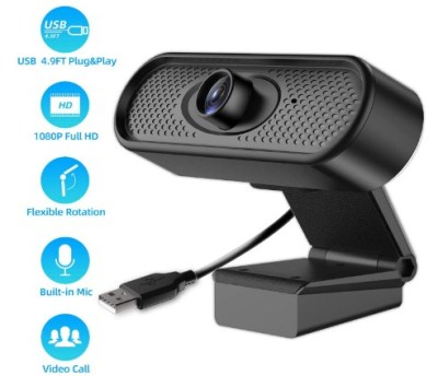 AMAZON: Web Camera w/ Microphone, 1080 Full HD Webcam Streaming Computer Camera $50 ($250)