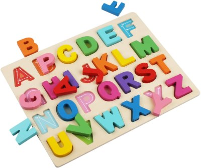 AMAZON: Wooden Alphabet Puzzles, ABC Puzzle Board for Toddlers 2-5 Years Old, use code 50TCQF8F to SAVE!!