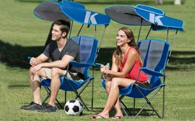 eBay: Folding Lawn Chair with Canopy ONLY $45.99 + FREE Shipping (Regularly $100)