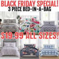 Macy's : 3 Piece Black Friday Special Bed in a Bag Just $19.99 FOR ALL SIZES! (Reg $80)