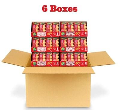 Amazon: 6 Boxes RITZ Peanut Butter Sandwich Crackers, 8 – 1.38 oz for $13.37