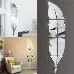 Amazon: Feather Mirror Decals Wall Sticker , Just $4.99 ( Reg. Price $24.95 )