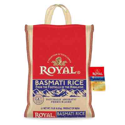 Amazon: Authentic Royal Royal Basmati Rice, 15-Pound Bag, White ONLY $13.89