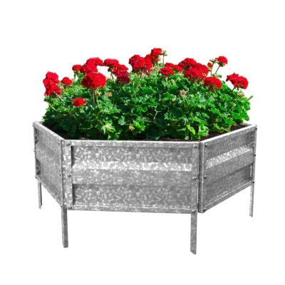 Walmart: Raised Garden Bed Plant Holder Kit w/ Adjustable Galvanized Iron For $13.76