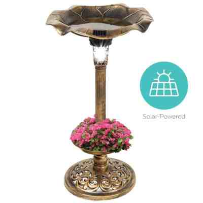 BCP: Solar Lighted Bird Bath w/ Planter For $39.99 (Reg $68.99) with Code
