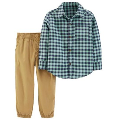 Kohl's: Toddler Boy Carter's 2-Piece Gingham Top & Pants Set ONLY $11.52 (Reg $32)