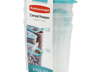 Sam's Club: Rubbermaid Cereal Keeper, 3 Pack For $12.98 (2 Colors)