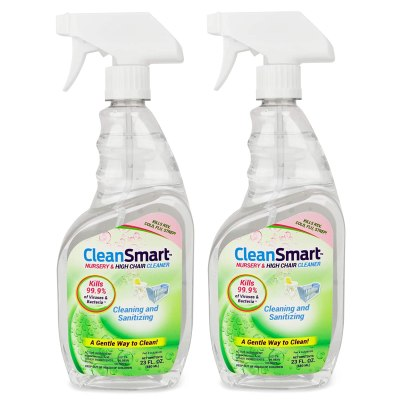 Amazon: CleanSmart Nursery & High Chair Cleaner, 23 oz, 2 Pack for $13.99
