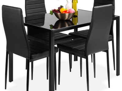 Walmart: 5-Piece Kitchen Dining Table Set w/ Glass Tabletop $209.99 (Reg. $317.99)