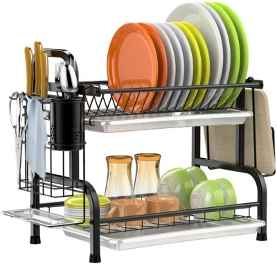 Amazon: 43% OFF on Stainless Steel 2 Tier Dish Rack with Trays
