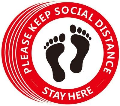 Amazon: 81% Off on Social Distancing Floor Decals [5-Pack]