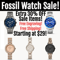 Fossil Watches : Extra 30% Off Sale Items-STARTING AT $29! + FREE ENGRAVING & SHIPPING!