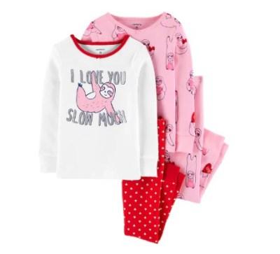 Kohl's: Toddler Girl 4-Piece Sloth Pajama Set ONLY $11.52 (Reg $36)