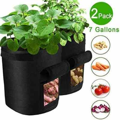 Amazon: KOLSOL Plant Grow Bags, 2PacK, Black ONLY $14.49