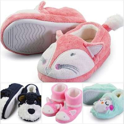 Amazon: Cute Girl Boy's Animal Slippers, Just $6.74 after code!